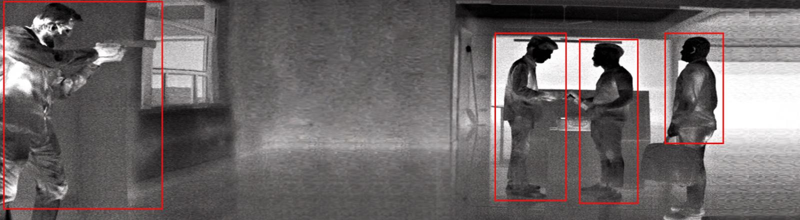 Night Vision Security Camera Footage